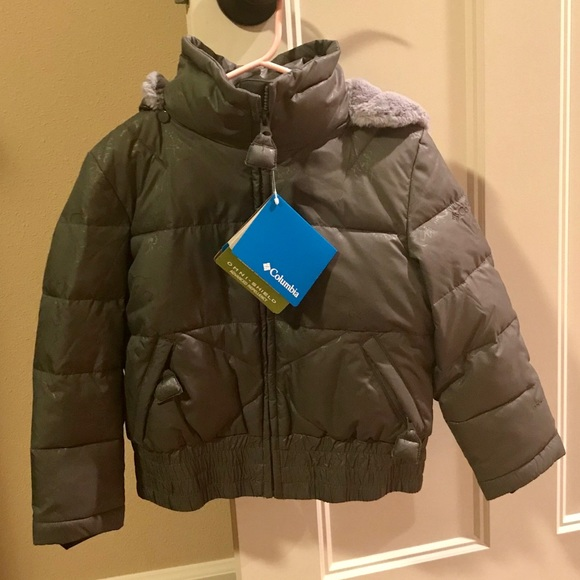 e0d2ed65ad716 Columbia Girls Puffer Down Bomber Jacket- Size 4 5